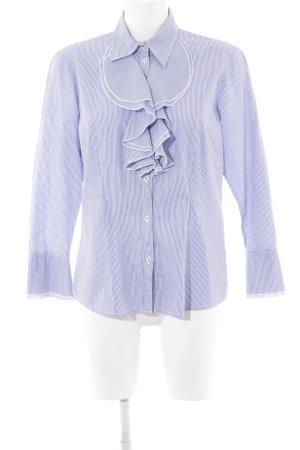 Seidensticker Langarmhemd stahlblau-weiß Streifenmuster Business-Look