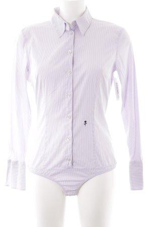 Seidensticker Langarmhemd weiß-blasslila Streifenmuster Casual-Look