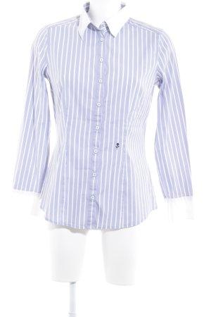Seidensticker Langarmhemd weiß-himmelblau Streifenmuster Casual-Look