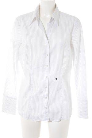 Seidensticker Langarmhemd weiß-schwarz Nadelstreifen Business-Look