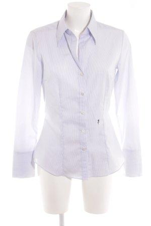 Seidensticker Langarmhemd weiß-stahlblau Streifenmuster Business-Look