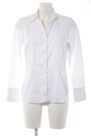 Seidensticker Langarmhemd weiß Streifenmuster Casual-Look