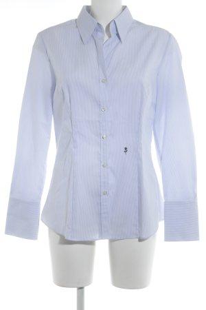 Seidensticker Langarmhemd wollweiß-graublau Streifenmuster Business-Look