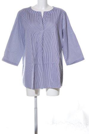 Seidensticker Long-Bluse blau-weiß Streifenmuster Casual-Look
