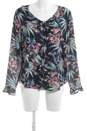 Seidensticker Rüschen-Bluse florales Muster Casual-Look