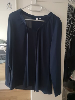 Seidensticker Tie-neck Blouse blue-dark blue