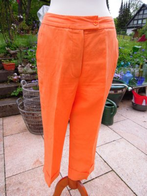 Seidenstricker, Hose, 7/8el, Leinen, Orange, Gr. 38, NEU