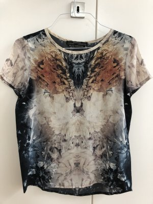 All Saints Top in seta multicolore