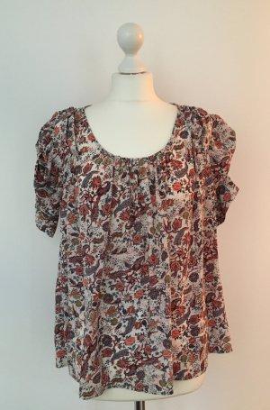 Zara Camisa de mujer multicolor Seda