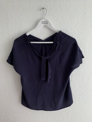 Mrs & HUGS Silk Top dark violet