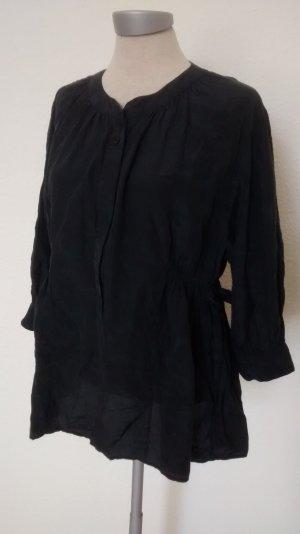 Seidentop Seide Tunika Top Oberteil schwarz Gr. M 38 DKNY Jeans gothic