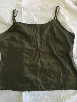 Seidentop von Wrap, grün, Größe 44