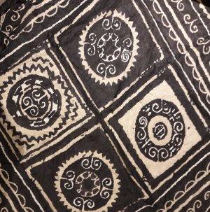 Zijden doek zwart-goud Zijde
