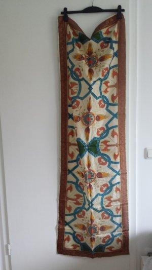 Zijden sjaal goud-bruin