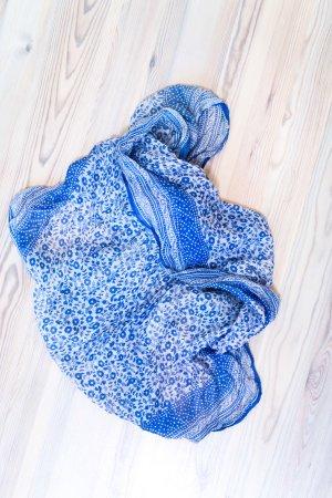 Seidentuch in blau weiss H&M
