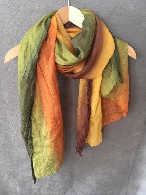 Seidentuch in Herbstfarben | One Size | Handgemacht