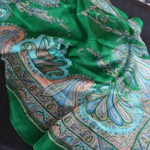 Zijden doek groen Zijde