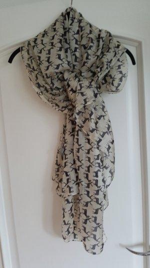 Ahmaddy Zijden sjaal zilver-grijs