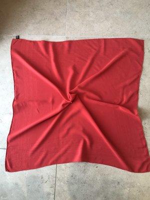 Seidentuch Rot  100% Seide 80x80