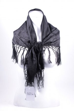 Seidentuch schwarz Blumenmuster Eleganz-Look