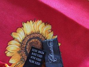 Pañuelo de seda rojo-naranja dorado