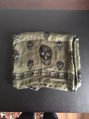 Alexander McQueen Kerchief black-khaki silk
