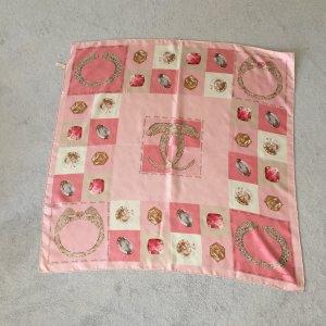 Cartier Pañuelo de seda rosa claro-rosa