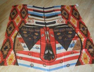 Furla Pañuelo de seda rojo-marrón oscuro Seda