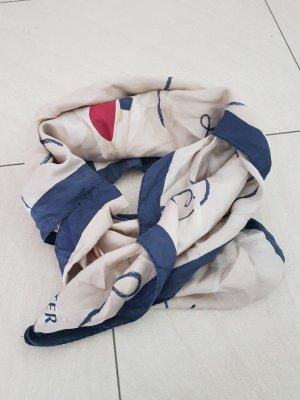 LANCASTER Zijden sjaal licht beige-lichtblauw