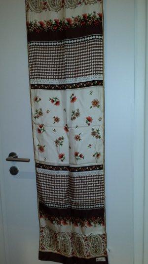 Zijden sjaal bruin-room