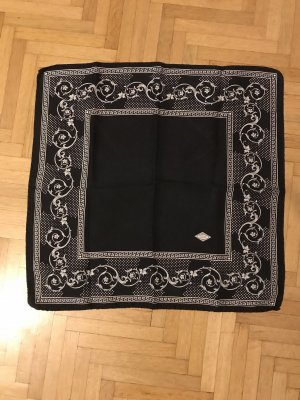 Versace Zijden doek zwart-wit