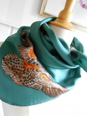 Shoulder Scarf dark green
