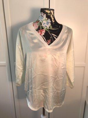 Mango Zijden blouse wit-wolwit
