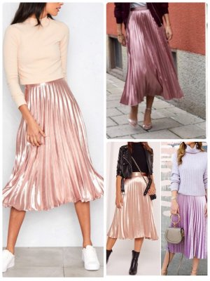 Plaid Skirt light pink