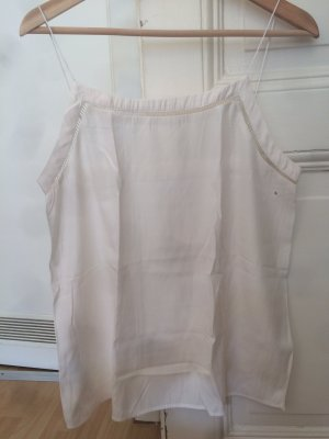 Seidiges Top von Mango in Off-White