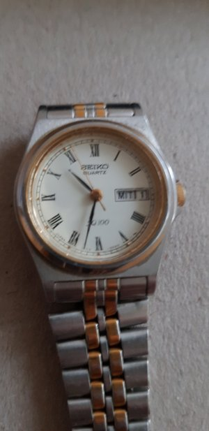 Seiko Watch With Metal Strap silver-colored-gold-colored
