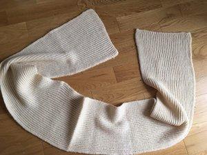 Sciarpa lavorata a maglia giallo chiaro