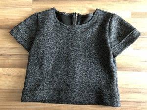 Cropped Shirt black-dark grey polyamide