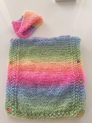 *Selbstgestrickt* Traumhaftes Set aus Wolle in Regenbogen Farbe