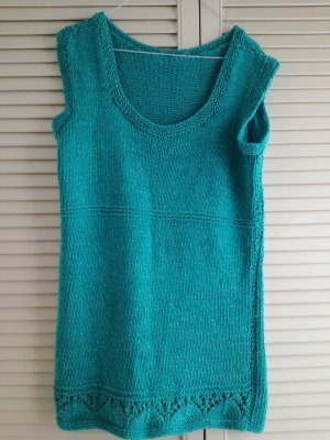 Vestido de lana turquesa-azul claro