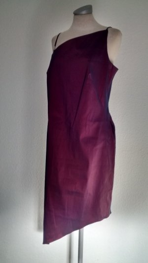 Select Kleid asymetrisch metallic lila Gr. UK 16 EUR 44 XL asymetrisch Party