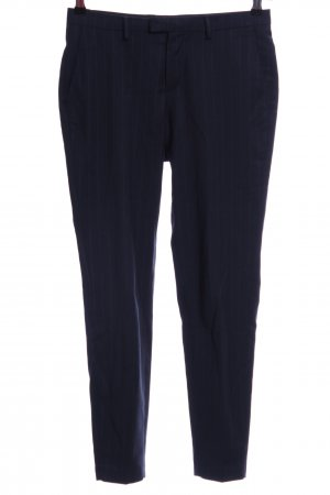 Selected Pantalone da abito blu scuro gessato stile casual