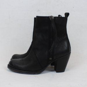 SELECTED Boots Gr. 39 schwarz Leder (18/3/E)