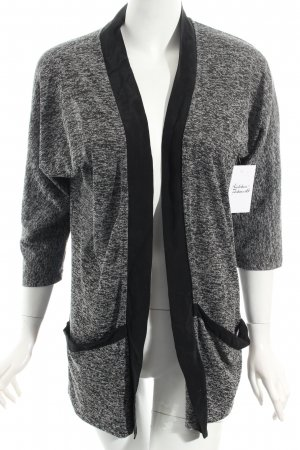 Selected Cardigan schwarz-weiß meliert Casual-Look
