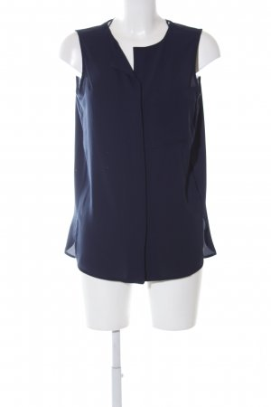 Selected Femme ärmellose Bluse blau Business-Look