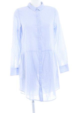 Selected Femme Robe chemisier bleu-blanc motif rayé style décontracté
