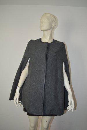 Selected Femme Cape Jacke Gr. 36 in Grau Meliert mit Wolle
