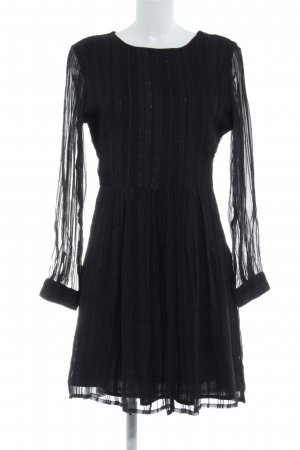 Selected Femme Chiffon Dress black-gold-colored striped pattern party style