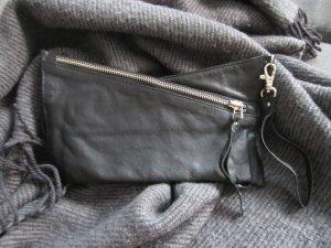 Selected Femme Clutch echtes Leder schwarz TOP