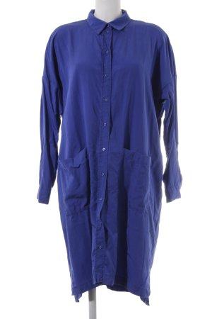Selected Femme Hemdblusenkleid stahlblau Stofflagen-Detail